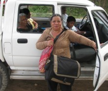 #11 Marcia transporting the ultrasound machine to the hospital-b