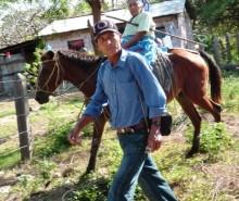 Arriving on horseback