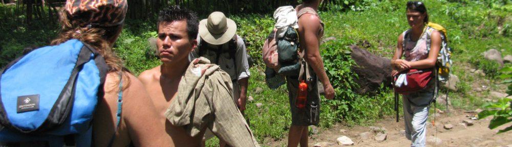 hiking to Nicaraguan remote village